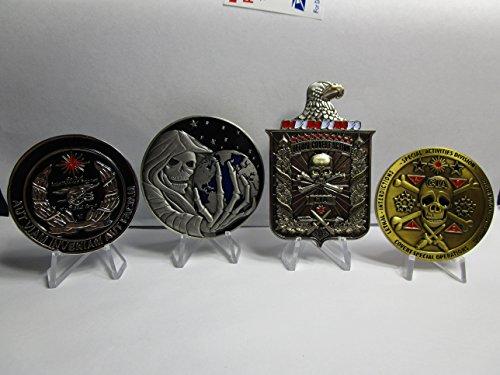 Set of 4 CIA Covert Action Challenge Coins SAD SOG Seal Team VI Grim Reaper