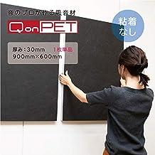 QonPET 吸音材 粘着無 (30mm×900mm×600mm)