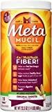 Metamucil Fiber Supplement, Original Smooth Psyllium Husk Powder, Sugar-Free and Unflavored, 23.3 oz