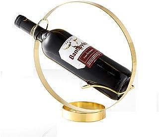 Logo TLF-FF Estante del Vino Creativo Sencillo Hierro Forjado Estable Estante del Vino Pequeña Casa Estante del Vino
