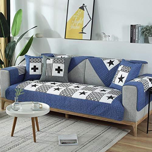 Funda de sofá Hybad estilo rústico con rejillas para sofá, funda antideslizante y resistente al desgaste, fundas protectoras para muebles, cada pieza se vende por separado., F, 90*160cm