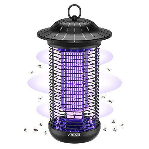 Aerb Lámpara Antimosquitos Eléctrico UV 18W, LED Mosquito Lámpara Trampa, 4000V Alto Voltaje, Fácil de limpiar, IPX4 Impermeable, Matar Mosquitos, Moscas, Polillas, para hogar, Patio, exterior, 95m²