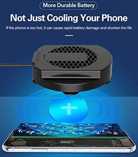 RUilY® Foldable Mobile Phone Cooling Holder Bracket Fan Radiator for Phone Tablet