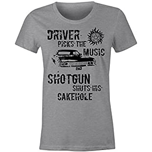 Ladies Fitted Winchester Driver T Shirt (Grey, XXL)