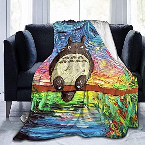 HSBZLH Mantas Bebes Totoro Throw Blanket Manta Cálida Felpa Ultra Suave para Sofá Cama Y Sa Estar Idea Regalo Large 80X60 In For Adults