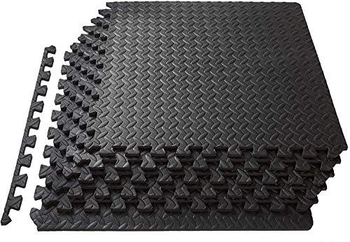 Lsooyys - Alfombra de protección de suelo, 12 baldosas de espuma para gimnasio, garaje, aislamiento contra golpes, ruido, rayaduras