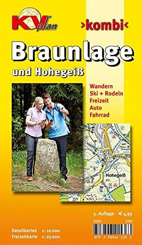 Braunlage und Hohegeiß: 1:10.000 Stadtplan mit Freizeitkarte 1:25.000 (KVplan Harz-Region)