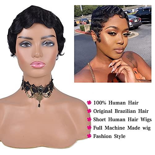 Short finger wave wig _image2