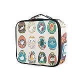 Osterei-Designs, witziges Cartoon-Tier-Make-up-Tasche, wasserdicht, abnehmbar, Make-up-Tasche, Organizer, Kosmetiktasche, Oxford-Gewebe