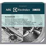 AEG M3GCP400 9029799187 Clean and Care - für Waschmaschine und Geschirrspüler (Inhalt 6 Stück) 3‑in‑1 Reinigung und Pflege Entfettungs-, Entkalkungs- und Hygienemittel