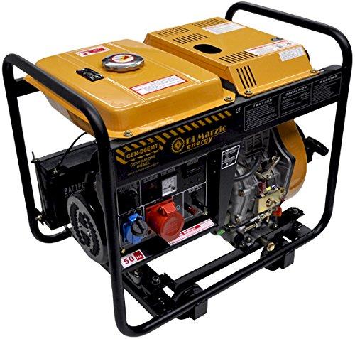 6 Kw- dreiphasiger Diesel-Stromerzeuger - Stromaggregat mit E-Start/Handstart - GEN-D6EMT