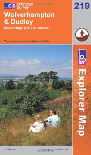 OS Explorer map 219 : Wolverhampton & Dudley
