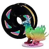 Filament PLA 1.75 mm 3D Drucker PLA Filament Multicolor Rainbow XVICO PLA Regenbogen Filament 1 KG Spool