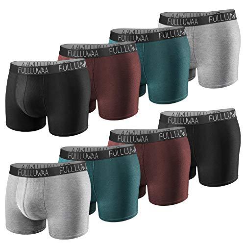 Fullluwaa Boxershorts Herren 8er Pack Unterhosen Männer Baumwolle Men Retroshorts Boxer Unterwäsche (Mehrfarbig, L)