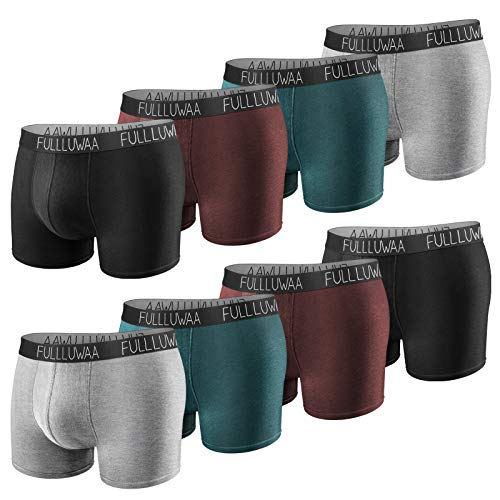 Fullluwaa Boxershorts Herren 8er Pack Unterhosen Männer Baumwolle Men Retroshorts Boxer Unterwäsche S, M, L, XL, XXL, XXXL
