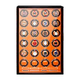 XIUWOUG Expositor automático de relojes de madera maciza, color de piano, pantalla táctil, motor silencioso, para relojes Man Wonen (tamaño: 24+0)