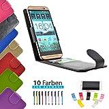 4 in 1 set ikracase Slide Flip Hülle für Archos 50 Titanium 4G Smartphone Tasche Case Cover Schutzhülle Smartphone Etui in Schwarz