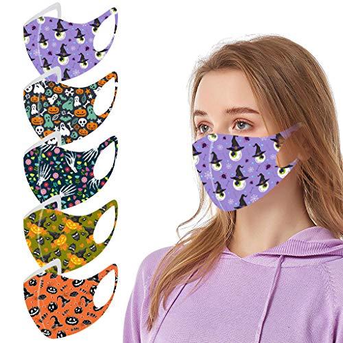 God's pens 1/5PC Reusable Face Bandanas Men Women Halloween Washable Cloth Face_Mask Safety Breath Protection Outdoors