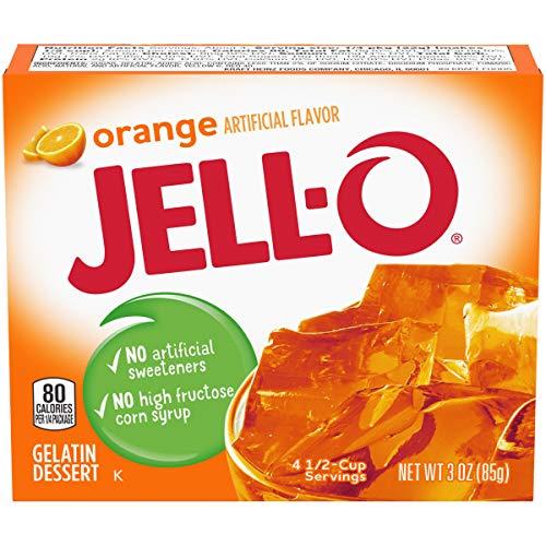 JELL-O Orange Gelatin Dessert Mix (3 oz Box)