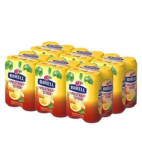 Birell Polotmavy Citron - Halbdunkles Alkoholfreies Radler mit Zitrone (24 x 500ml)