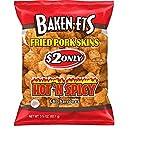 Baken-Ets Hot 'n Spicy Fried Pork Skins (3.25 oz. ea., 15 ct.) - (Original from manufacturer - Bulk Discount available)