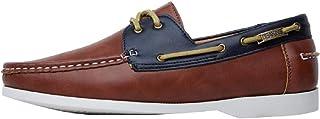 Deakins Chaussures bateau classiques pour homme tan/marine