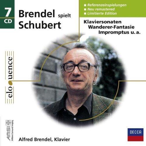 BRENDEL PLAYS SCHUBERT (1970S RECORDINGS, NOT THE LATER DIGITAL RECORDINGS) - PIANO SONATAS D 537, 575, 664, 784, 840, 845, 850, 894, 958, 959, 960,3 Piano Pieces, D.946, 11 Ecossaises, D.781, Hungarian Melody D.817, Allegretto in C minor, D.915, 4 Impromptus Op. 899,4 Impromptus D 935, 16 German Dances, D. 783, D760 Wanderer-Fantasy, 6 Moments musicaux, D.780, 12 GERMAN DANCES D 790 - 7CD BOX SET (NEWLY REMASTERED 2008, LIMITED EDITION)