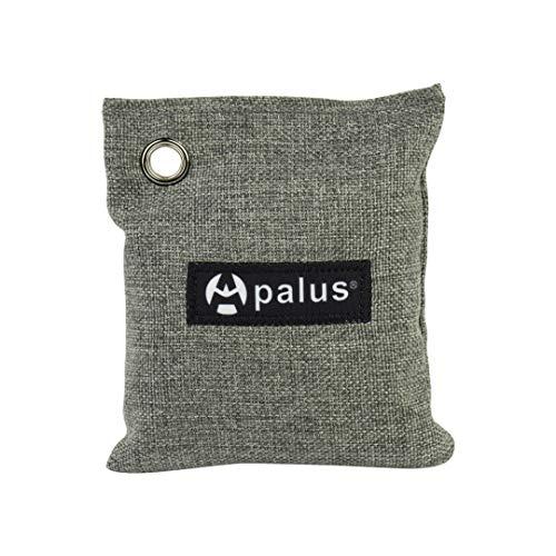 Apalus ® Bolsa de Carbón Activo De Bambú, Deshumidificador Y Purificador De Aire. Ambientador Natural Eficaz y Desodorante para Eliminar los Olores De Armario, Cocina, Zona de Mascotas, (200Gx2)