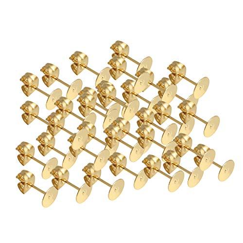 oshhni 50 Piezas de Pendientes Planos para Hombre, Pendientes de Mujer - 3mm