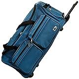 Deuba Bolsa de Viaje Deporte Maleta Azul 85 litros 70 x 36 x 34 2 Ruedas 5 pies Mango...