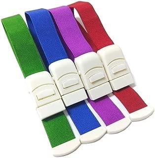 AMPPHY Outdoor Tourniquet Card Button Elastic Tourniquet, Sports Medical Emergency Cingulate Frist Aid Supplies (A Pack of 4)