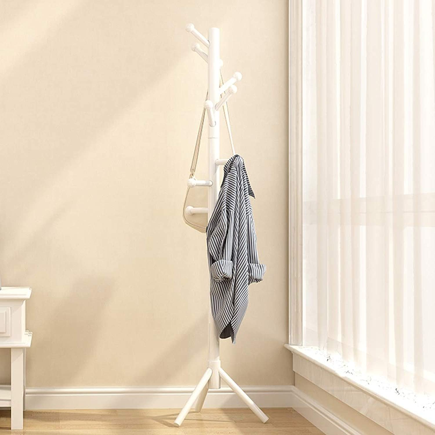 Feifei Floor-Standing Solid Wood Coat Rack Bold Nordic Modern Minimalist Hanging Racks Simple Living Room Bedroom Coat Rack (color   03)