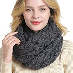 """Material - The infinity scarf is made of 100% soft Acrylic, it is very great in quality and durability,it is fashionable that can keep you warm and make you look attractive. Size - The circle loop scarf is one size. Scarf measures approximately 59"""" x..."""