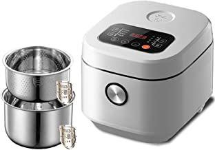Programmable Rice Cooker Slow Cooker Steam Yogurt Maker Low Removal Sugar Stew with 24 Hours Delay Timer and 3L Auto Keep ...