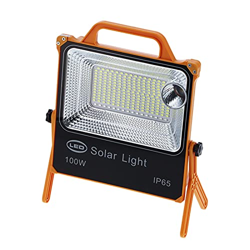 Yisenda Luz Solar, 8000LM 100W Luz de Emergencia con Soporte Giratorio para Acampar para Trabajar