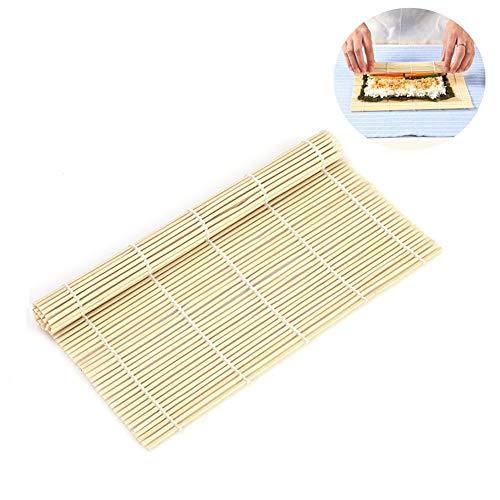 3 Pcs Carré Non blanchi Naturel Bambou Sushi Fabricants Fabriqué À La Main Aux Algues Rouleau Moules Rideaux De Bambou Attelles pour Restaurant À La Maison Sushi Making