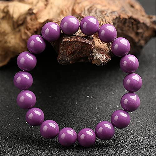 Cosaike Feng Shui Pulsera Cristal curación Natural púrpura Mica Piedra Afortunado Encanto púrpura con Cuentas Equilibrio Brazalete Vacaciones joyería Amuleto Mujeres Hombres atraen Dinero Suerte,10mm