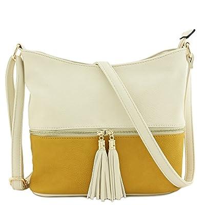 Tassel Zipper Bucket Crossbody Bag