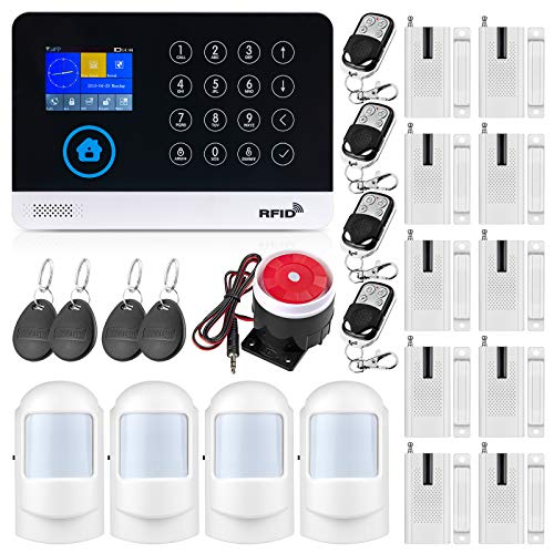 Fuers WG11 Wireless 2.4G WiFi + GSM Home Burglar Alarm System, iOS / Android Control App with Auto Numbering