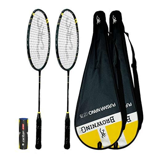 Browning Plasma Nano Ti 75 Badminton Racket X 2 6 Shuttles Protective Cover