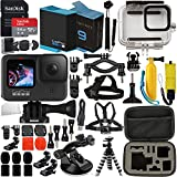 GoPro HERO9 (Hero 9) Action Camera (Black) with Premium Accessory Bundle – Includes: SanDisk Ultra 64GB microSD Memory Card, Spare Battery, Underwater Housing, Carrying Case, & Much More