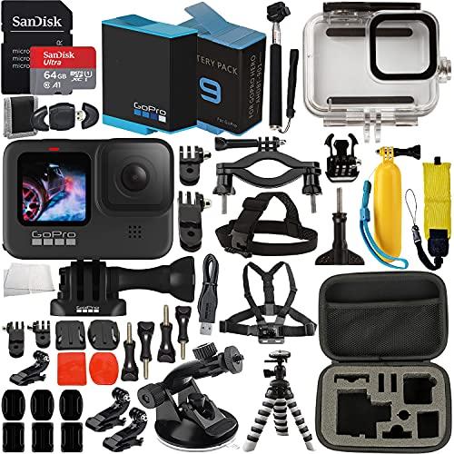 GoPro HERO9 (Hero 9) Action Camera (Black) with Premium Accessory Bundle...
