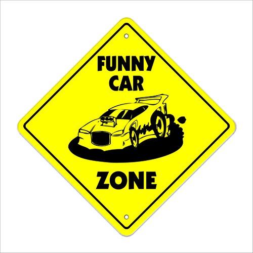 Funny Car Zone Sign Xing regalo novedad Drag Racing Top ctpi combustible neumáticos