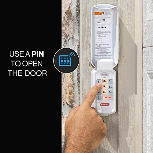 Genie Garage Door Opener Wireless Keyless Keypad - Safe & Secure Access - Compatible with All Genie Intellicode Garage Door Openers - Easy Entry into the Garage With a PIN - Model GK-R