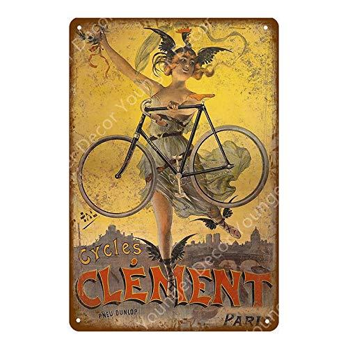 ivAZW Ride Bicycle Metal Tin Signs Motor Cycling Vintage Poster Bar Pub Club Home Room Decor Wall Sticker Plaque 20x30cm YD7719F
