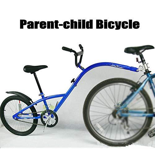 QWERTOUY 20-Zoll-Mountainbike-Anhänger, Stahlrahmen-Tandem-Fahrradanhänger, Kopilot-Fahrradanhänger mit Luftrad, Mode-Eltern-Kind-Auto
