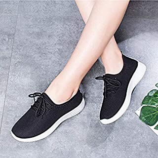Women's Vulcanize Shoes - Women's Casual Shoes Outdoor Sports Athletic Sneakers Breathable Mesh Running Shoes (black 7.5)