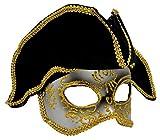 VENTURA TRADING MX7 Pirata Capitán de Barcos Máscara de la Mascarada Mascarilla Veneciana Pluma Decoración Mujer Mascarada Disfraz Mardi Gras Fiesta Pelota Paseo