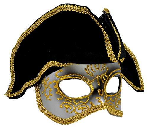 VENTURA TRADING MX7 Pirata Capitán de Barcos Máscara de la Mascarada...
