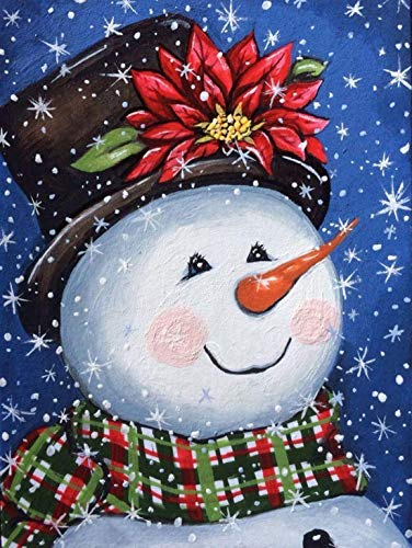 Christmas Diamond Painting Kit Paint by Diamonds Dots Kits for Home Wall Art Decor Gift 12 x 16 Inches